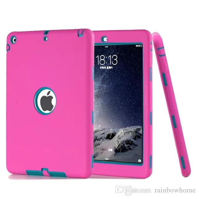 Defender shockproof Robot Case military Extreme Heavy Duty Silicon cover for ipad air 5 air2 6 ipad 234 ipad mini 123 mini 4