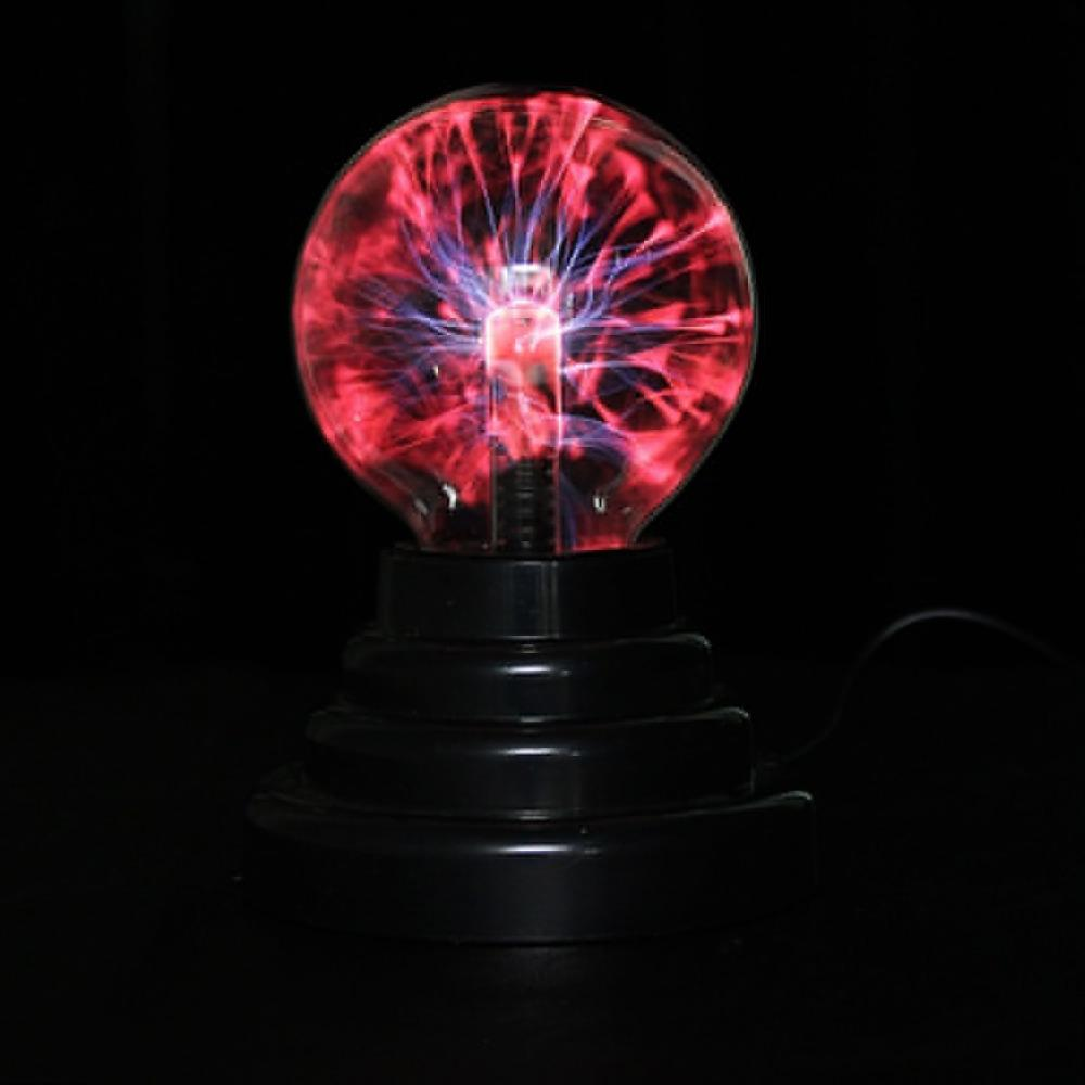 "Wholesale- 3"" USB Plasma Ball Sphere Light Magic Crystal Lamp Desktop Globe Laptop Wholesale"