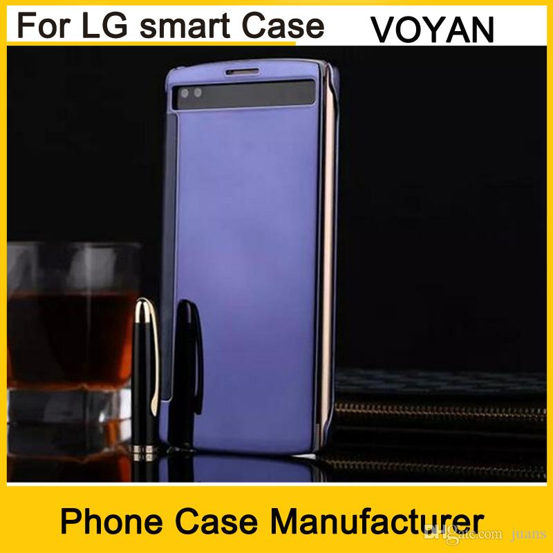 finest selection e07b0 246b8 Wholesaler Price Smart View Leather Case for LG g4 g5 V10 Elactroplate  Smart Mirror Cover Sleep Wake Screen Protector Phone case Cover