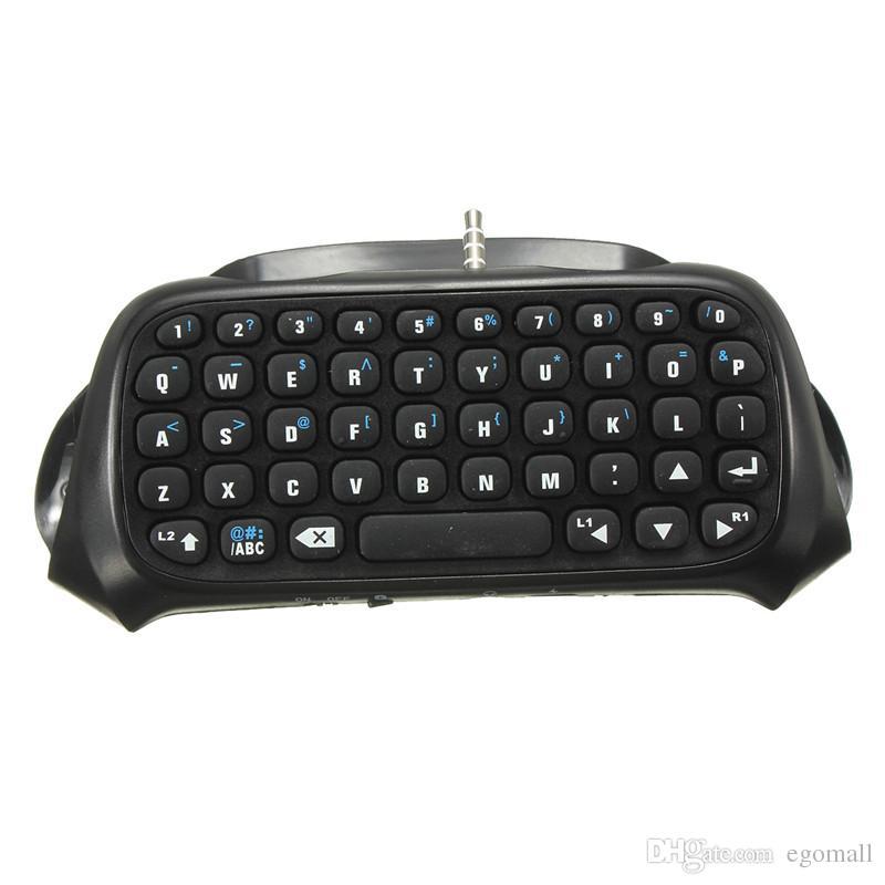 Vente chaude Sans Fil Bluetooth Chatpad Message Clavier pour Sony pour PlayStation 4 pour PS4 Contrôleur Noir
