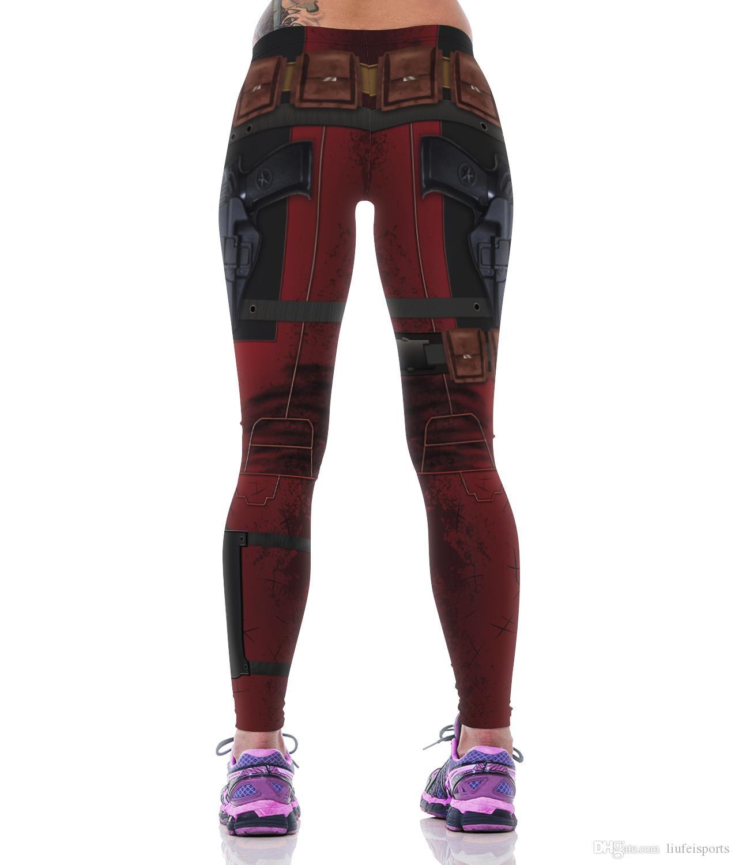 schnell trocknende Outdoor-Sporthosen imprägniertfrauen Elastizität kreative Uniformen Persönlichkeit Leggings lange Hosen Turnhalle Kleidung im Freien Bekleidung