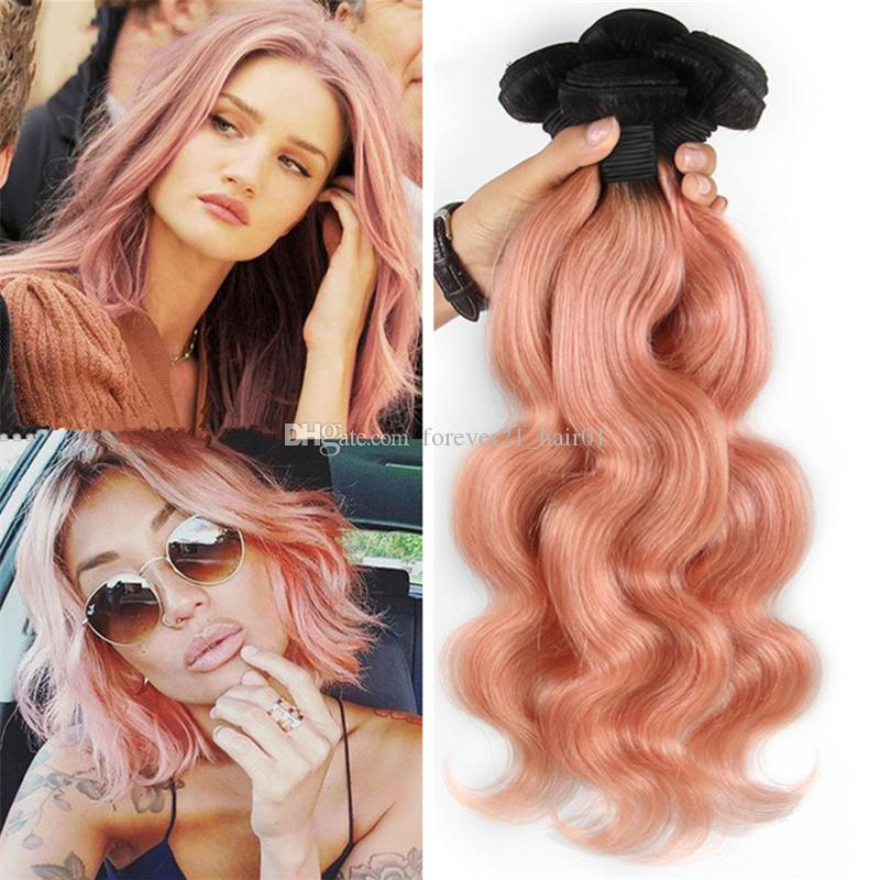 2018 dark roots pink ombre virgin hair bundles 1b pink body wave 30 pmusecretfo Image collections