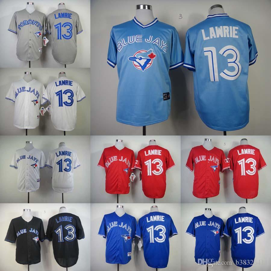 ... 2017 Blue Jays 13 Brett Lawrie Light Blue Throwback Stitched Baseball  Jersey Pullover Jersey Best Quality Toronto ...