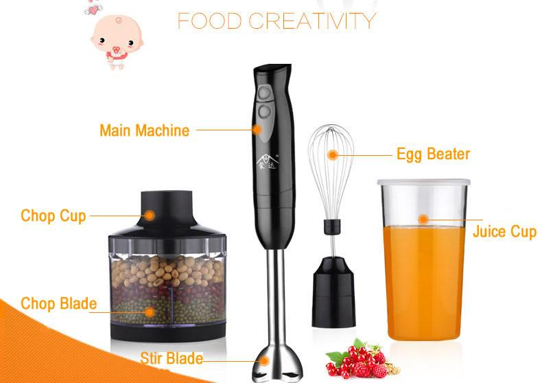 Portable Handheld Blender 2 Gear Speed Cooking Machine Cooking Stick for Baby food Egg beater Mixer