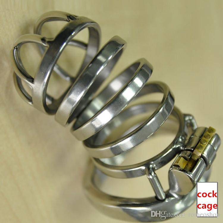 Neue Spezielle design 55mm Cock Cage Länge Edelstahl Kleine Keuschheitsgerät Lange Cock Cage Für Männer