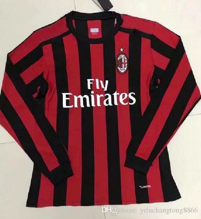7960ae6f2 ... shopping football jerseys man uniform running men full 2017 jerseys  itlay ac milan long sleeve goalkeeper