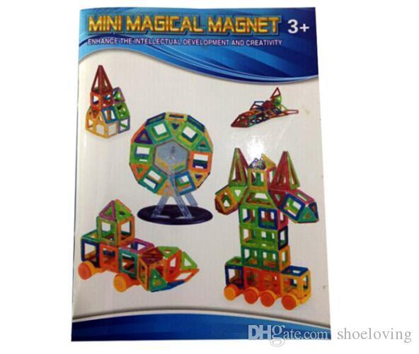 Novo Magnético Blocos Brinquedos 3D Ímã Bricks Empilhamento Conjunto de Construção Brinquedo Inteligente Magnético Brinquedos Educativos Brinquedo de Aprendizagem # M058.