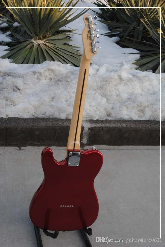 Горячая Оптовая высокого качества клен гриф F Ameican искусство подпись TL стандартный красный электрогитара-11-12