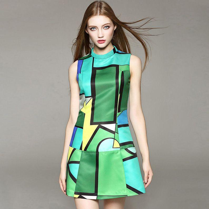 Print Plus Size Evening Dresses