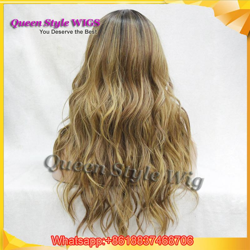Luxury Kanekalon Fiber Wig Premium Natural Looking Hand Woven Scalp Wig Celebrity Ciara Hairstyle Solid/Highlight Color Wigs for White Women