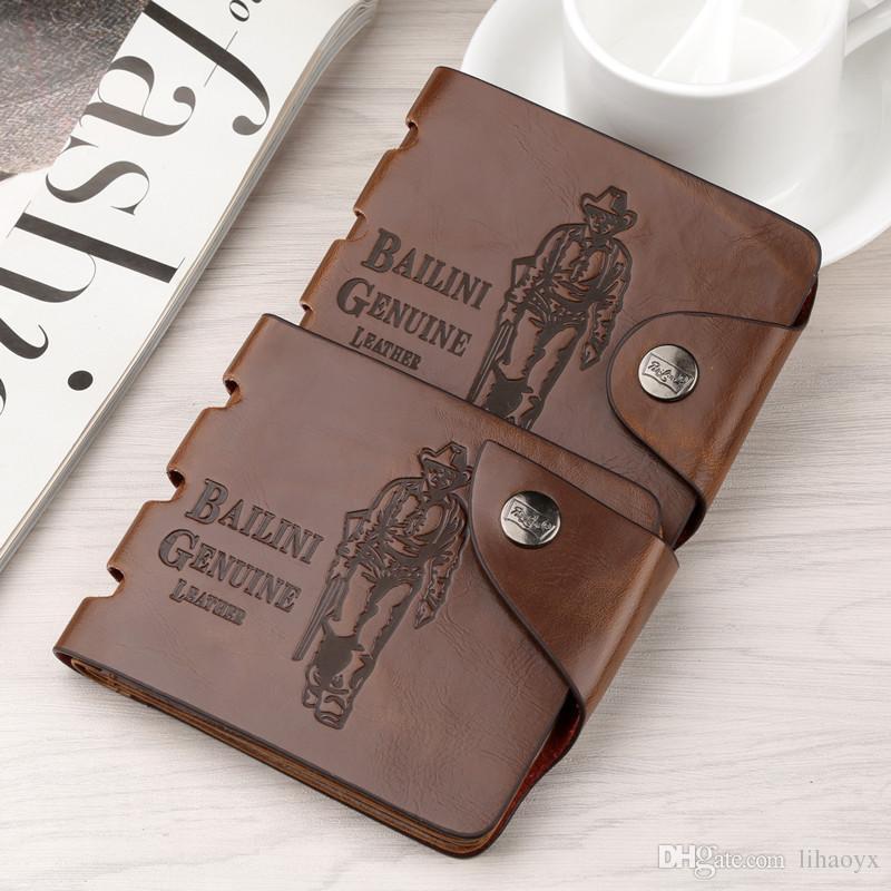 Portafoglio uomo in pelle di alta qualità di alta qualità tasche frizione Cente Bifold borsa Vintage semplice uomo borsa a459