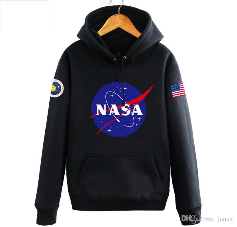 2019 The Newest Nasa Hoodies Sweatshirts Fashion American Flag Sport Active Coats Jackets Hoody ...