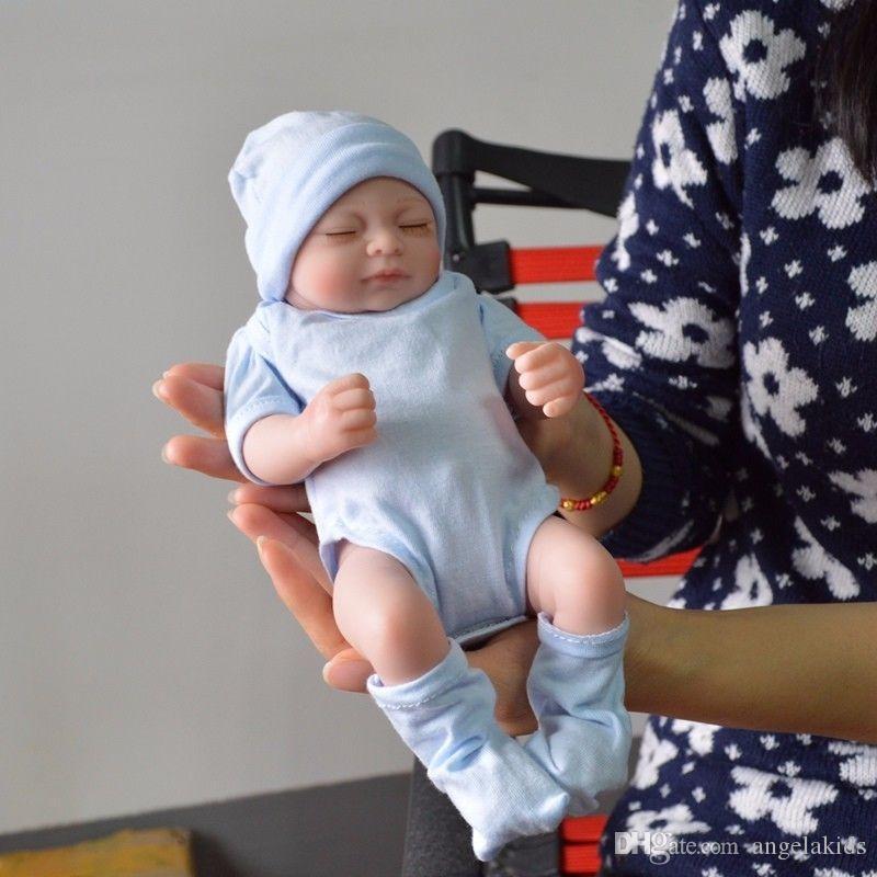 Всего тела силиконовые куклы Reborn Baby Reborn Baby Dolls ручной работы Reborn 11 дюймов Real Looking Новорожденных Девочка Силиконовые Реалистичные Куклы