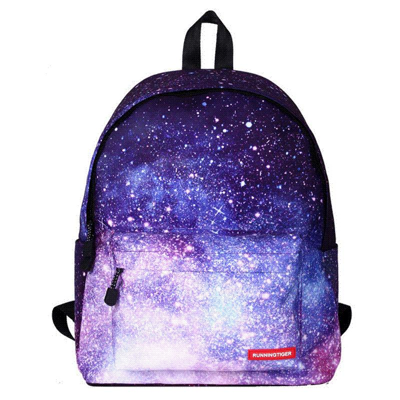 Star Universe Printing Women Backpack Children School Bags