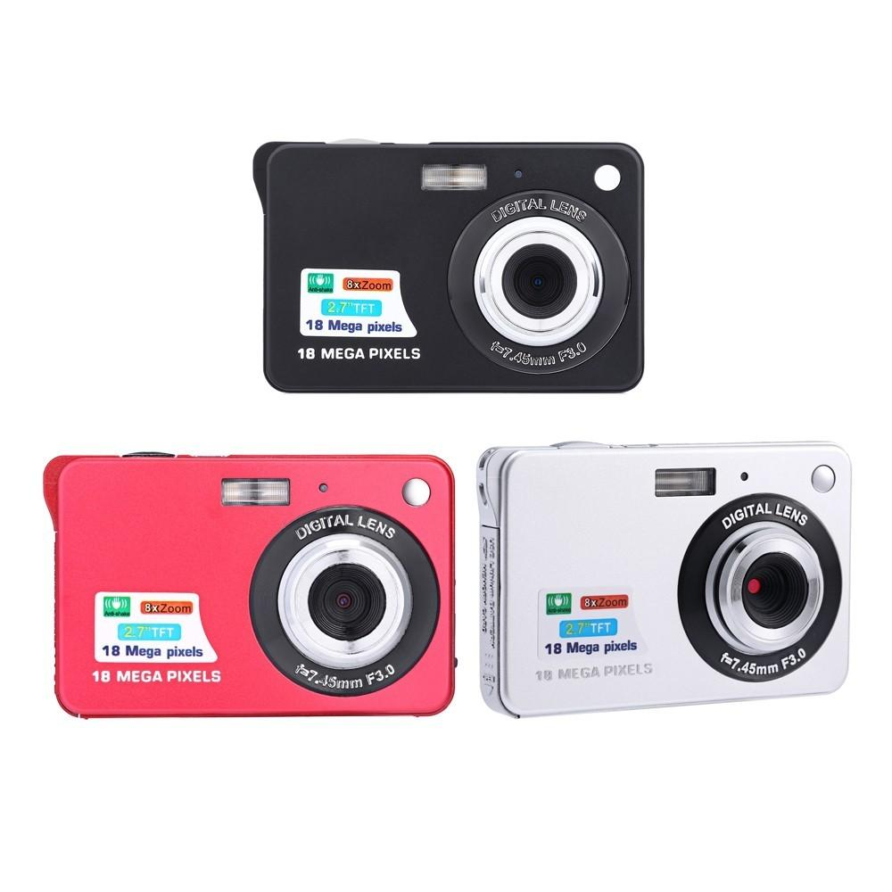 Digital camera 2.7 inch TFT LCD 18.0 mega pixels 8X digital zoom Anti-shake Video Camcorder photo camera MOQ;1PCS