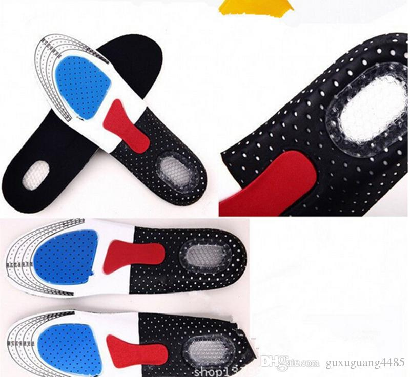 2016 Hot Sell ! Damping Ventilation Orthotic Arch Support Shoe Pad Sport Running Gel Insoles Insert Cushion Unisex