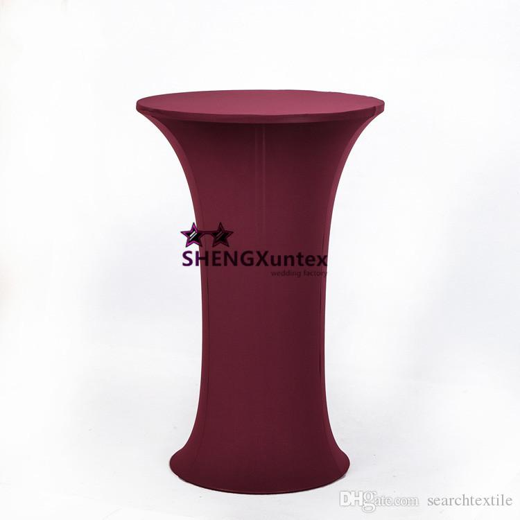 Round Base Spandex Cocktail Table Cover Table Cloth Spandex Table Cloth  Wedding Table Cloth Online With $131.56/Piece On Searchtextileu0027s Store |  DHgate.com