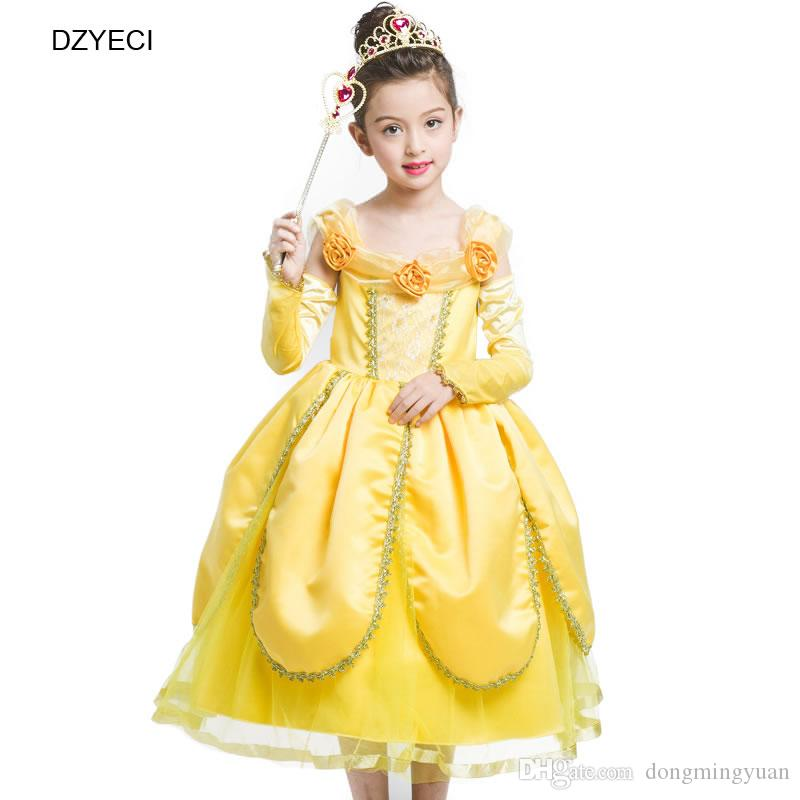 2018 Halloween Belle Dress For Baby Girl Costume Clothes