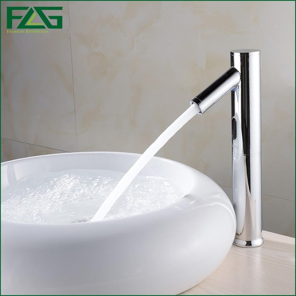 2018 Flg Hands Touch Free 100%brass Automatic Sensor Faucets Deck ...