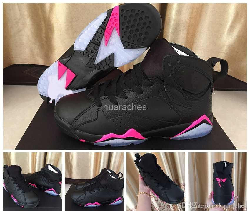 ... 2018 New 7 VII Women Basketball Shoes Black Pink AAA Quality Sports  Shoes Fashion 7s Womans ... 4a7693bfb0
