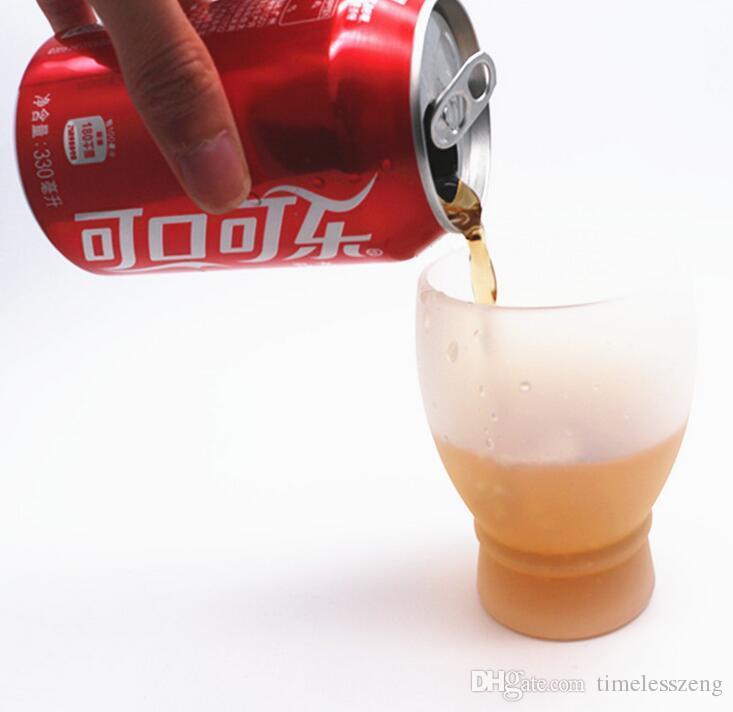 280 ml Pratique En Plein Air BBQ Silicone Vin Lunettes Pliable Incassable Silicone Bière Whisky Verre Protable Verres Pour Pique-Nique