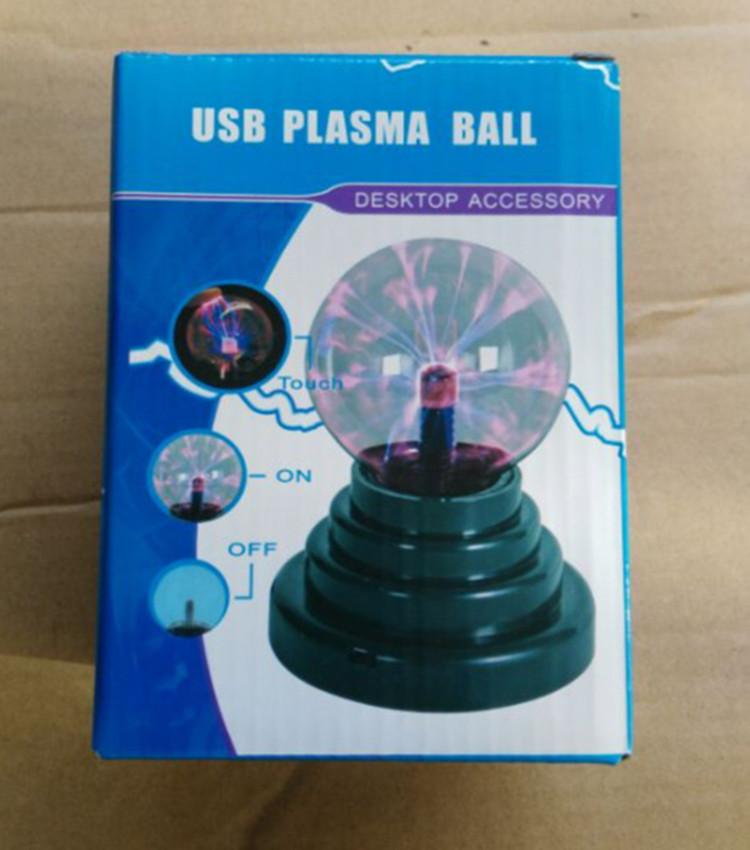 Crystal ball LED electrostatic ion magic ball lamp USB Light Star Projector birthday gift
