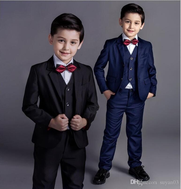 Fashion Baby Boys Kids Blazers Boy Suit For Weddings Prom Formal