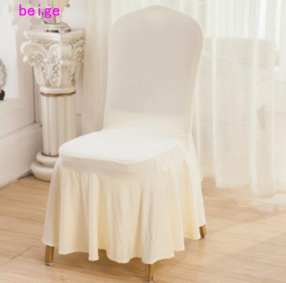 DHL Lycra Spandex CHAISE Couverture Jupe couverture pour soirée de mariage Banquet Hôtel Président décoration Couverture Bonne Qualité Plusieurs couleurs