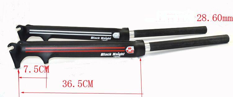 UD Full Carbon Rennrad Scheibenbremse Gabeln 700C Fahrrad V-Brake Gabelteile Glossy Black Ritter