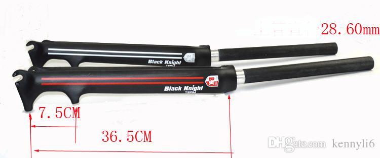 UD Full Carbon Road Bike Disc Brake Forks 700C Bicycle V-Brake Fork Parts Glossy Black knight