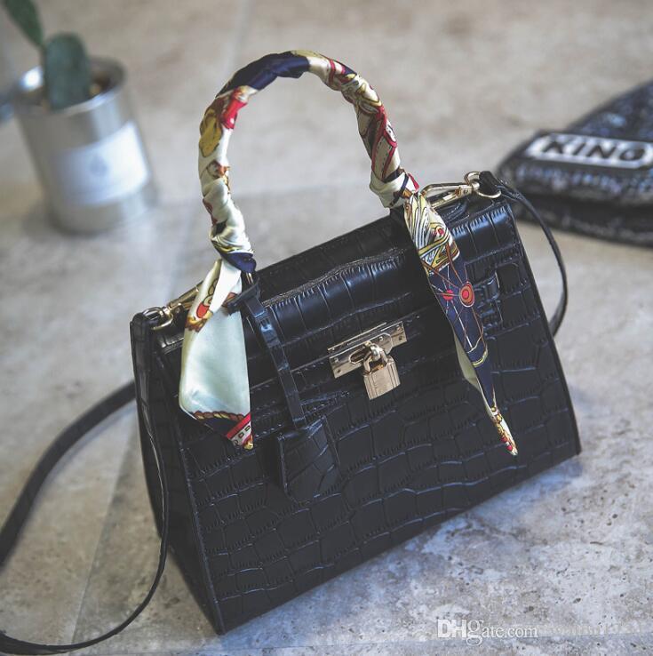 Cocodrilo bolsos de las mujeres nuevo estilo diseñador bolsas de hombro para las mujeres de la marca cintas señoras bolsos de noche de lujo envío gratis