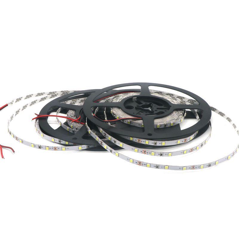No impermeable 5MM PCB Tira Led estrecha 2835 5 M Tira SMD de luz flexible Blanco cálido Naturaleza Led blanco 60leds / M Envío gratis