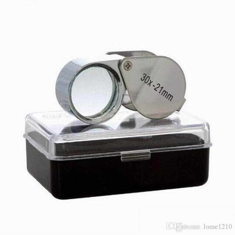 Toptan Hızlı 30x 21mm Kuyumcular Göz Büyüteç Büyüteç Büyüteç