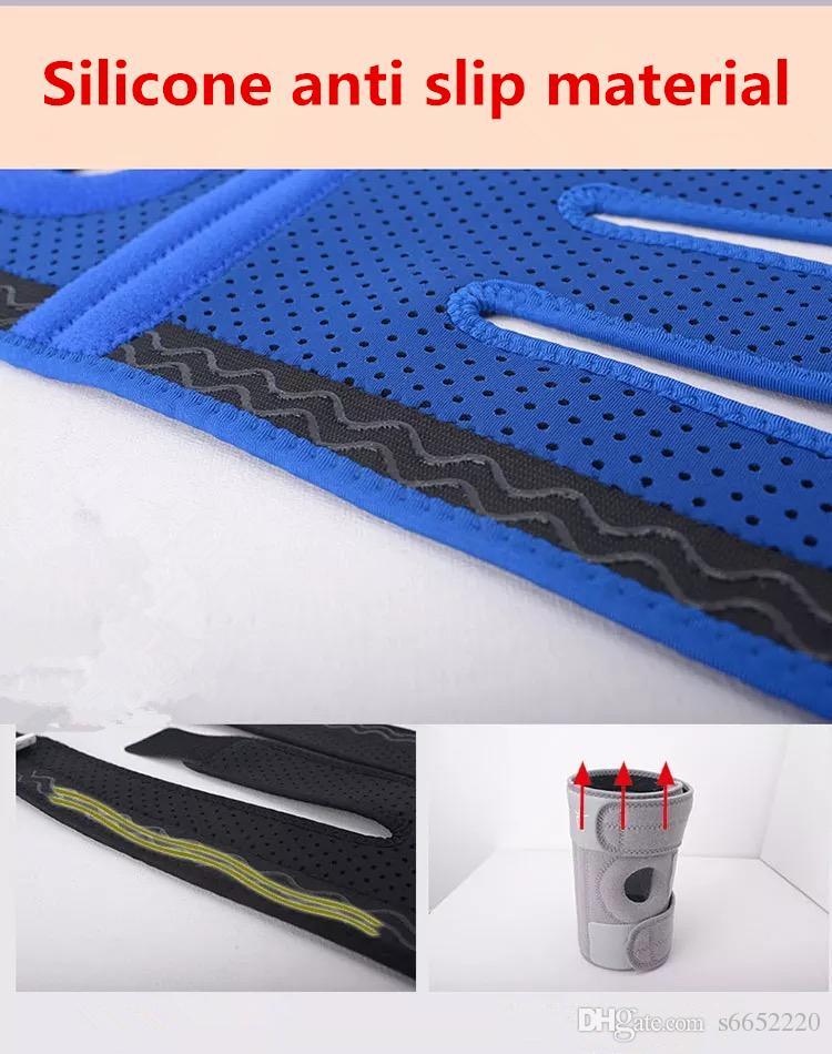 sport genou 4 Advanced Spring support noir sangle de sécurité Garde Patella élastique genouillères Sport Sécurité genou réglable Brace