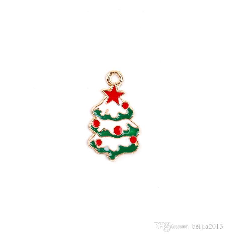 ! New hot sale Christmas Wholesale XSilver-tone Mix Unique Enamel Christmas Charms Pendants