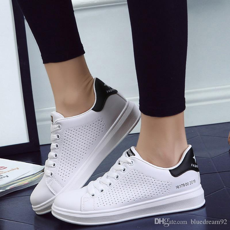 f311f80b50 Platform Sneakers Women Shoes Casual Students Hole Korean Sports Woman Shoes  Female Fashion Casual Designer Sneakers Woman Shoes Cute Shoes Mens Shoes  ...