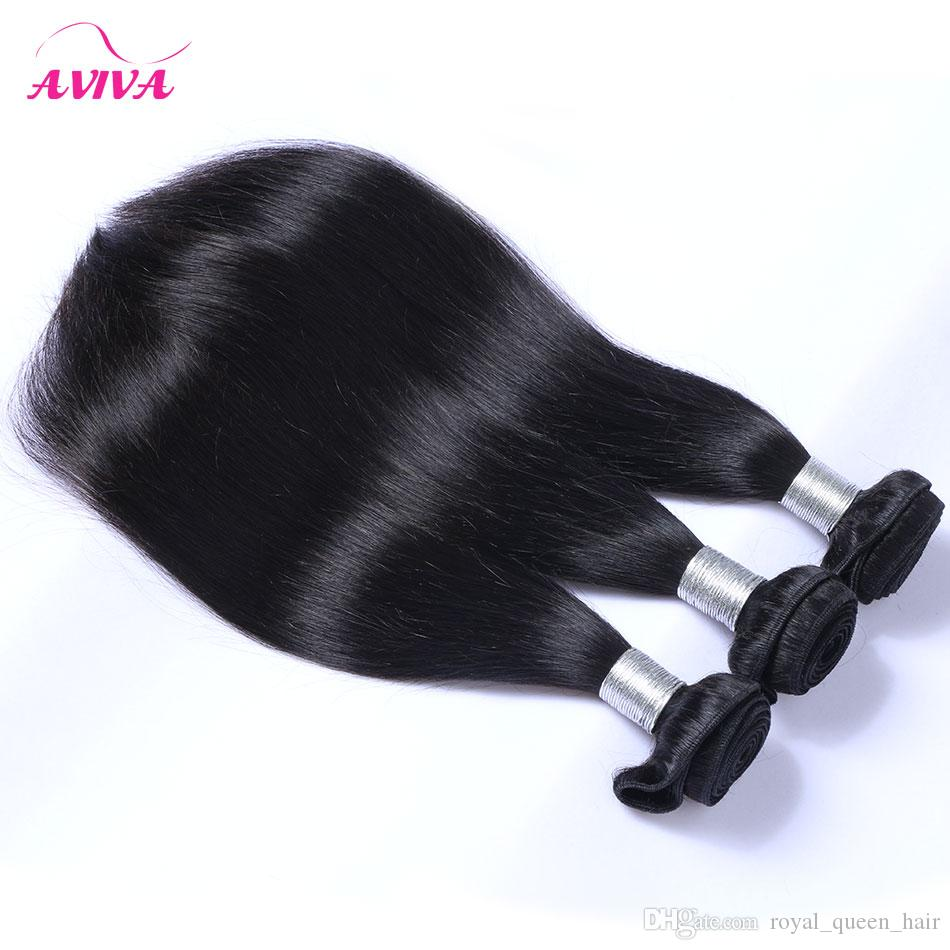 Virgin Chinese Hair Silky Straight Chinese Remy Human Hair Weave Bundles Natural Black Chinese Hair Extensions Tangle Free