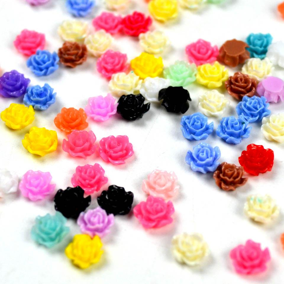 Wholesale Resin Rose 3d Flower Nail Art Supplies Acrylic Flowers For ...