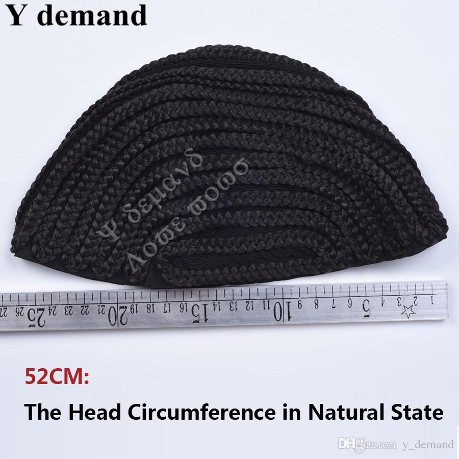 Schwarze Cornrow Perücke Kappen Für Weben Spitze Perücken Kappen Mit S M L, Cap Net Zöpfe Cap 5 stücke Gute qualität Y nachfrage