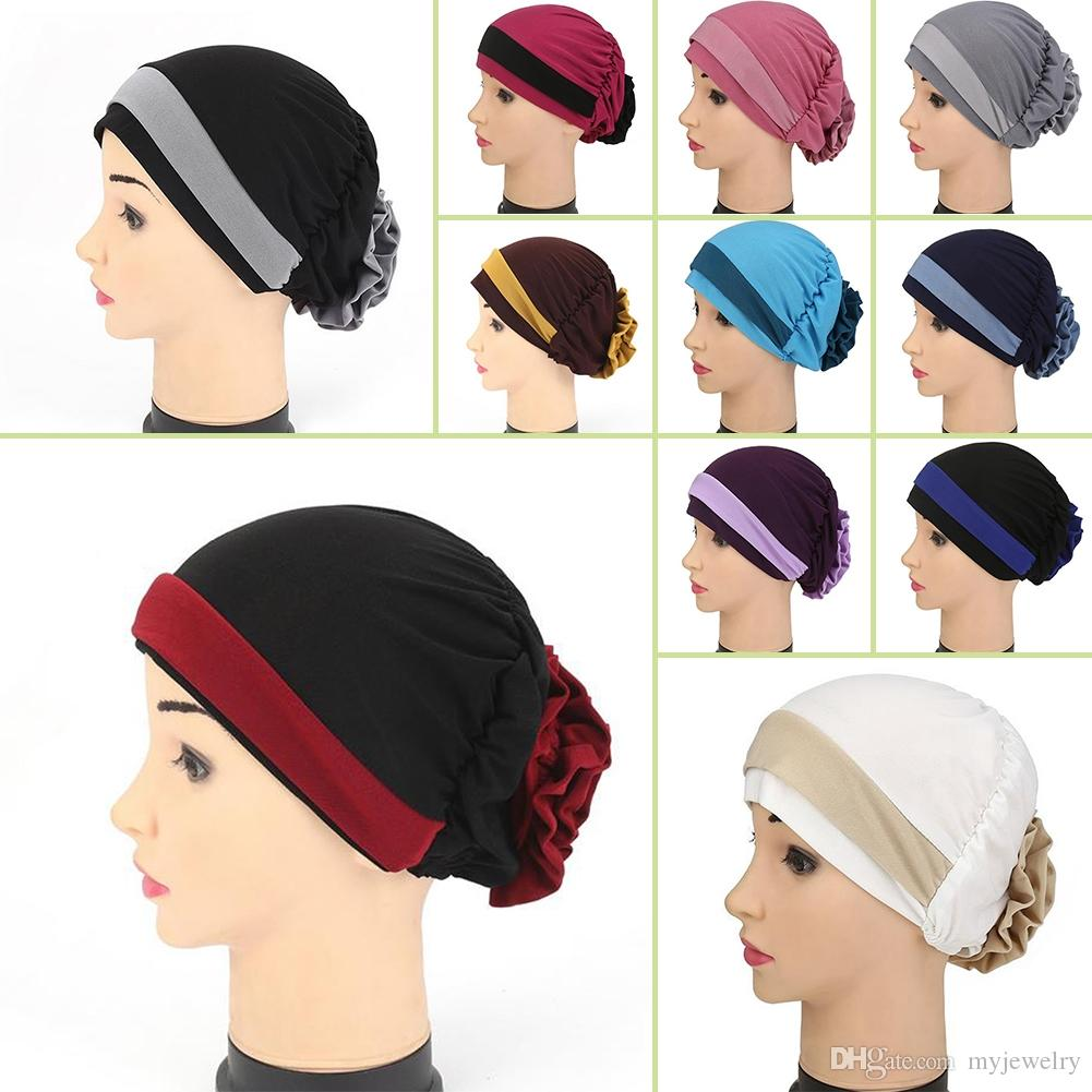 2018 muslim stretch turban hat cancer chemo cap hair loss head muslim stretch turban hat cancer chemo capg xflitez Gallery