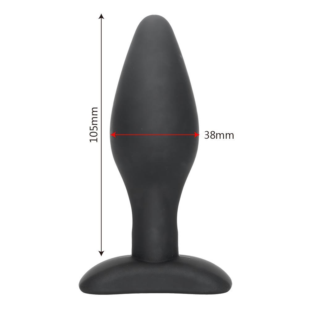 IKOKY Sexy Noir Silicone Plug Anal Massage Adult Sex Toys Pour Femmes Homme Gay Anal Mais Plug Set Buttplug Butt Plugs Produits de Sexe q170718
