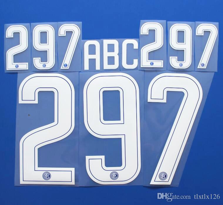 2017-2018 Lega Serie A Club Custom soccer Nameset Customize Name A-Z Number 0-9 Print Italian Football League Player nameset