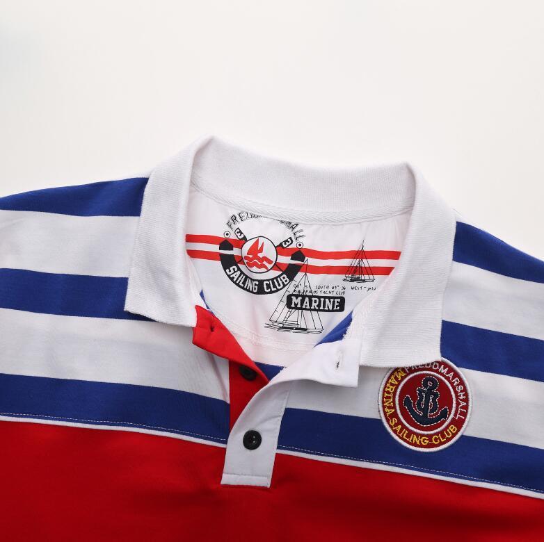 2017 summer men's short-sleeved polo fashion breathable stripe polo tshirts for men casual business men polo