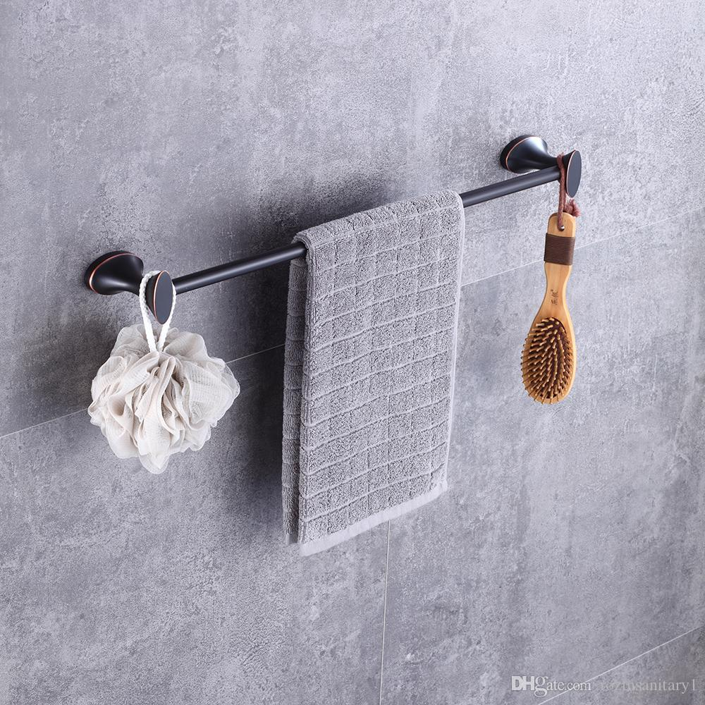 Wall Mounted Oil Rubbed Bronze Bath Shelf Single Lever Towel Bar ...