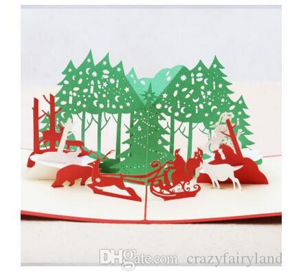 Invitation cards christmas 3d christmas greeting card cartoon santa invitation cards christmas 3d christmas greeting card cartoon santa claus navidad postcards xmas decorations 11 styles dhl assorted greeting cards b day stopboris Image collections