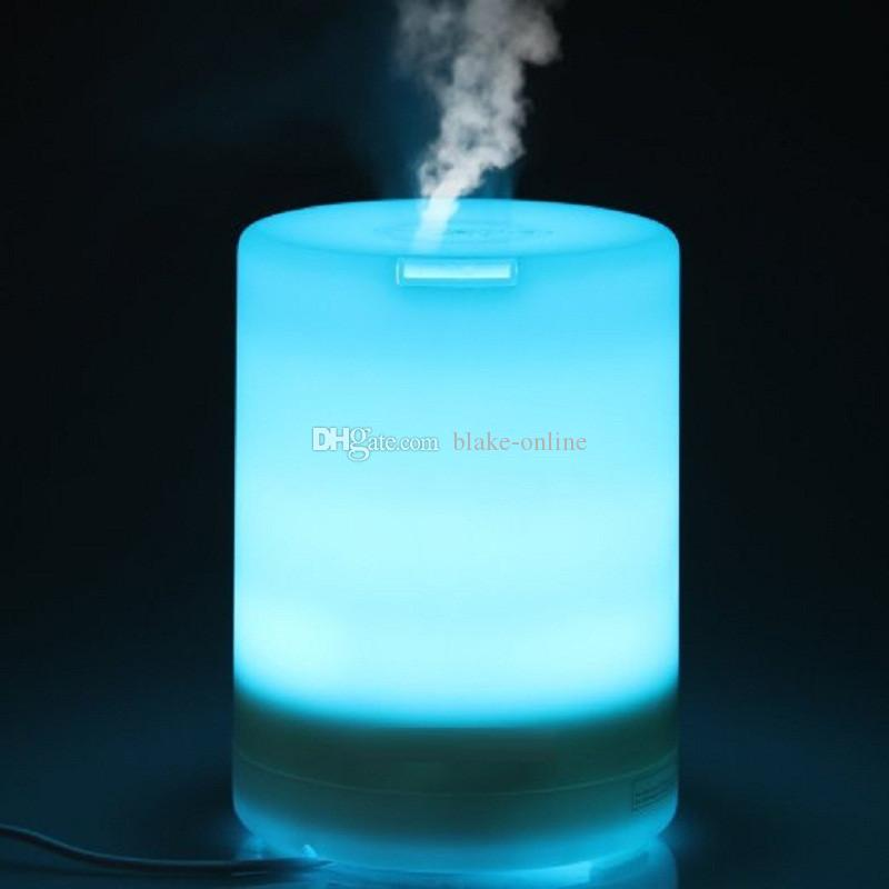 Ultraljuds doftdiffusor Livsmaskiner Färgbyte 300ml Aromaterapi Luftfuktare Nattljusrenare Auto stäng av diffusorer