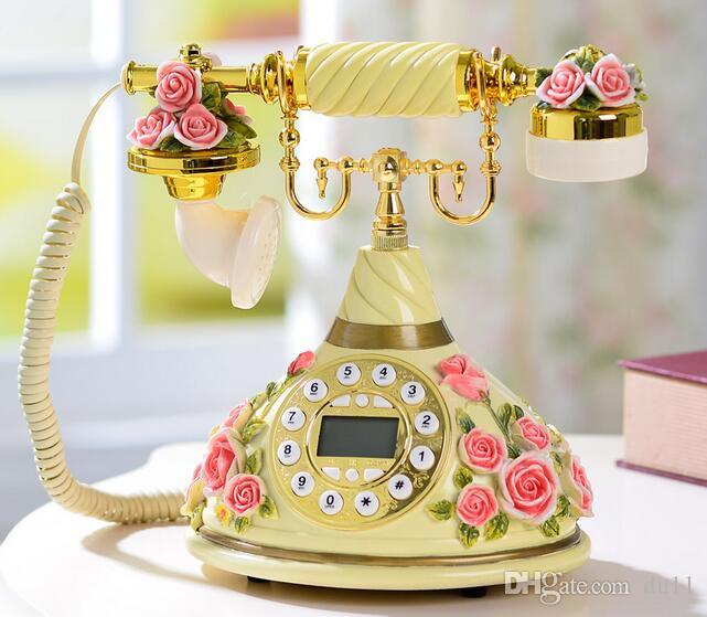 Avrupa tarzı retro telefon, antika yüksek dereceli telefon, Amerikan klasik telefon, yeni yüksek dereceli telefon seti