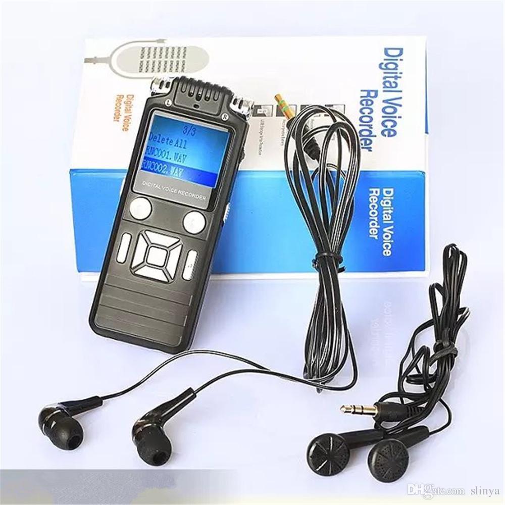 Registratore vocale digitale professionale da 8 GB Registratore audio USB Lettore MP3 Funzione AGC Altoparlante incorporato