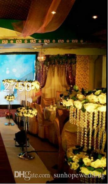 ديكور الحدث تأجير أعمدة الزفاف الكريستال الاكريليك / mandap / أعمدة لحضور حفل زفاف