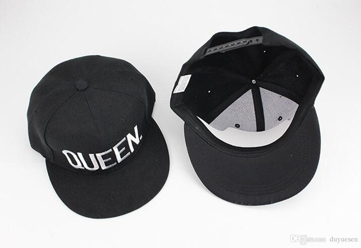 KingQueen lettres montrent aimer couple chapeau bonnet plat chapeau à bordures casquette de baseball hommes et femmes montrent la personnalité sauvage casquette de sports de plein air visière